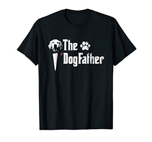 (Mens The Dogfather Golden Retriever Dog Dad Tshirt Father's Day)