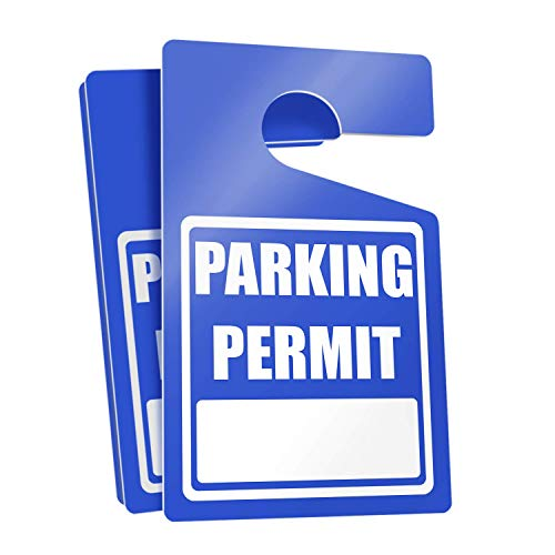 Parking Permit Hang Tags (Blue) - 10 Tough Thick Re-Usable Weatherproof Passes for Car Or Vehicle Rear View Mirror/Perfect for Employees, Residents, Tenants and More 3