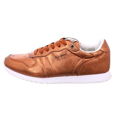Pepe Jeans London Gable Plain, Zapatillas para Mujer Naranja (Rust Orange)