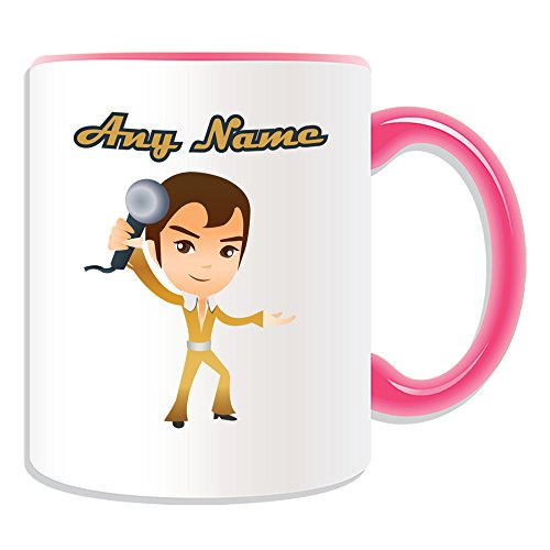Personalised Gift - Singer Mug (Hobby Design Theme, Colour Options) - Any Name / Message on Your Unique Mug - Musical Singing Song by UniGift