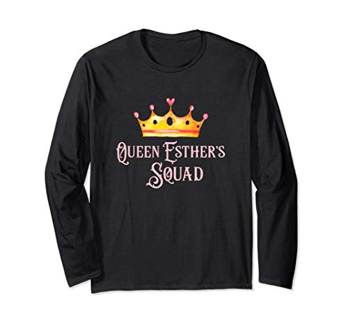 Funny Queen Esther Squad Purim Shirt Purim Costume Party