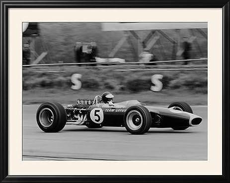Amazon.com: ArtEdge Jim Clark Driving the Lotus 49 at the British ...