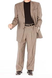 B009SPYUV8 Armani Collezioni BROWN Wool Suit, 40S, Brown