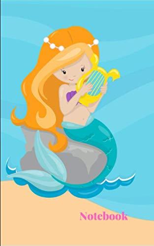 Notebook: An Auburn Hair Mermaid Princess Cute Small College Ruled Composition Journal Planner Diary Organizer|