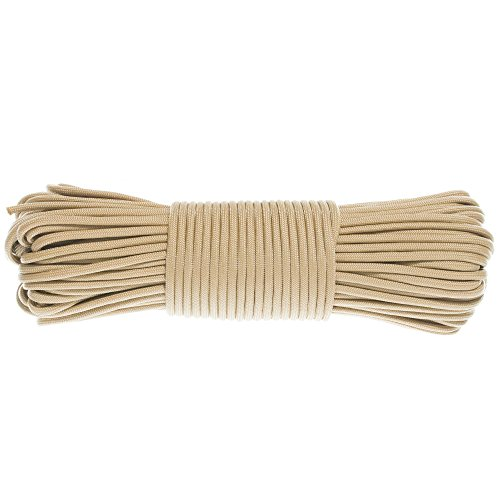 GOLBERG G Paracord Rope 550 Type III Paracord - Parachute Cord - 550 Cord - 550lb Tensile Strength - 100% Nylon - Made in The USA - (50 Feet, Beige)