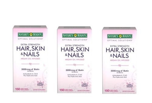 Nature's Bounty Biotin 5,000 Mcg Hair, Skin and Nails - 150 Softgels (Pack of 3) Hair Product by Nature's Bounty Biotin