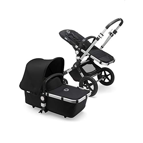 Bugaboo Cameleon3 Plus Complete Stroller, Alu/Black/Black - Versatile, Foldable Mid-Size Stroller with Adjustable Handlebar, Reversible Seat and Car Seat Compatibility