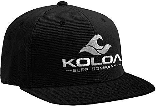 Koloa Surf-Classic Wave Logo Snapback Hats Black/White