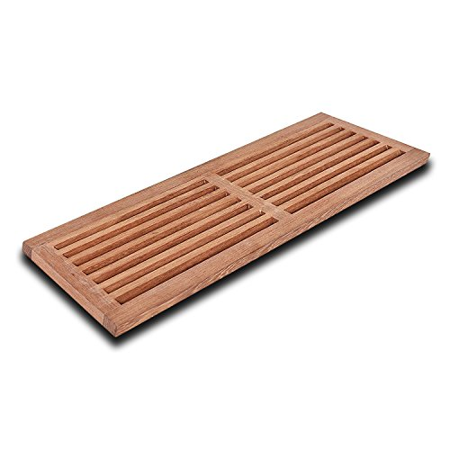 WELLAND 8 Inch x 24 Inch Brazilian Cherry Hardwood Register Cold Air Return Wall Vent Unfinished (Wall Hardwood)