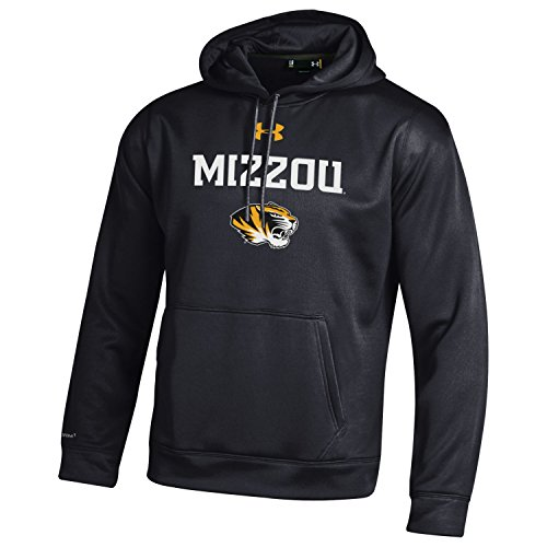 Under Armour NCAA Missouri Tigers Men's Fleece Hoodie, Large, Black (Apparel Tiger Black)