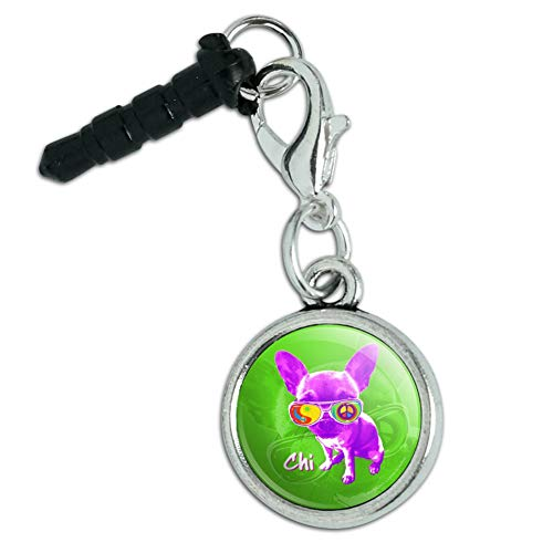 - Chi Chihuahua Dog Sunglasses Vintage Retro Mobile Cell Phone Headphone Jack Anti-Dust Charm fits iPhone iPod Galaxy