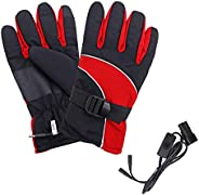 Ruimin Electric Heated Gloves for Men Women,Touchscreen Thermal Heat Gloves, Non-Slip Thermal Gloves for Cycli