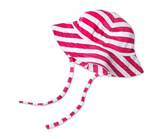 Zutano Unisex Baby UPF 30+ Sun Protection Hat,  Fuchsia/White Bold Strip,  18 Months (12-18 months) (Zutano Bold Stripe)
