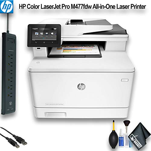 HP Color Laserjet Pro M477fdw All-in-One Laser Printer (CF379A) Office Bundle
