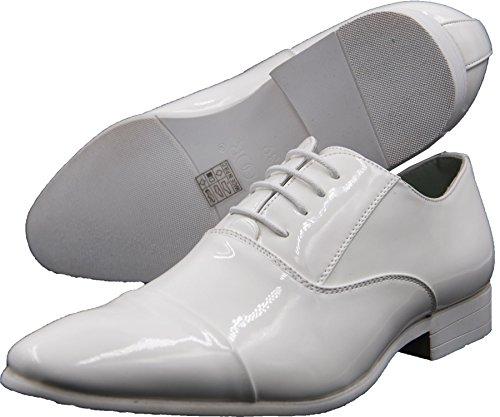Mariages Et À 885 Lacets Derbies Soirée Vernies Ville Homme Goor Blanc Chaussures H78q66w