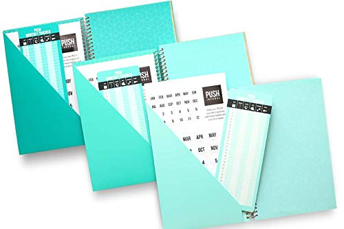 A 90-day, Undated, All-In-One Life Planner/Goal Setter/Notebook/Organizer/Scheduler/Journal Book, 3 Colors/Pack, Each Journal: 160 Pages-Quality Paper, 0.9 Lbs, 7x9 - Fits Into Your Bag by PUSH Journal (Image #2)