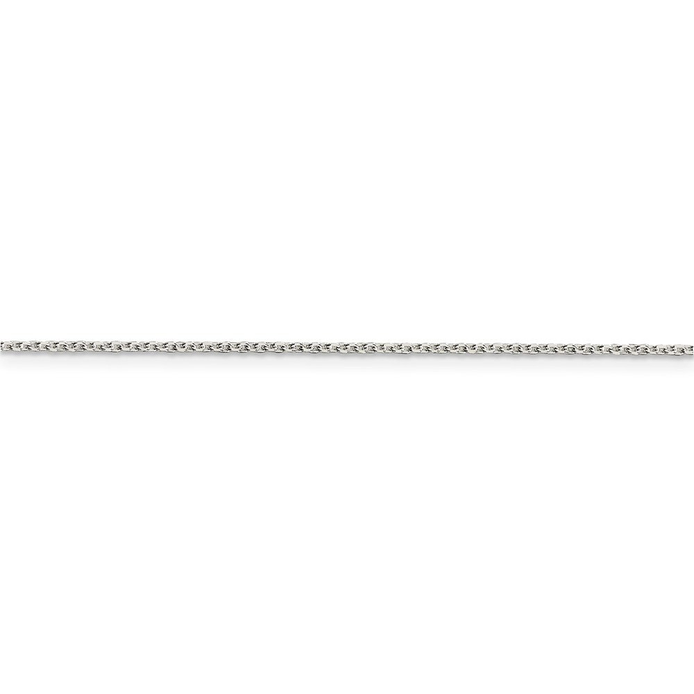 Chains .925 Sterling Silver 1.20MM Beveled Oval Cable Link Necklace