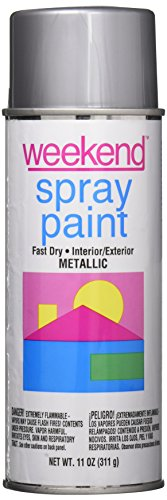 Weekend Spray Paint (Krylon I00345 11-Oz. Chrome Aluminum Spray Paint, 11 Oz (Pack of 6))