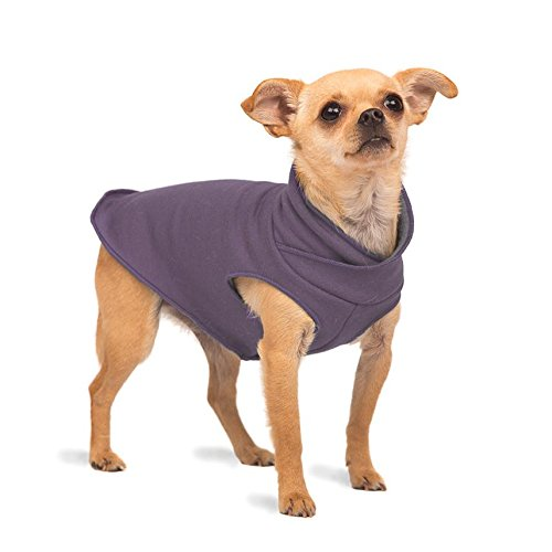 Gold Paw Series Santa Fe Natural Bamboo Pullover Dog Sweater - Size 20/Vintage Violet