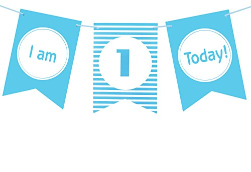 - Brcohco I'm 1 Today High Chair Banner 1st Birthday for Baby First Birthday Party Decoration Supplies Blue