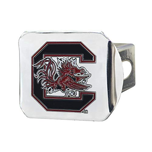 South Carolina Gamecocks 3D Color Emblem Chrome Hitch Cover