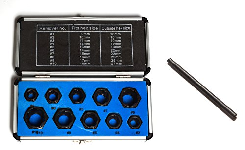 - DiER 11pcs 9-19mm Broken Bolt Removal Kit Damaged Nut Bolt Remover Stud Extractor Locking Socket Set