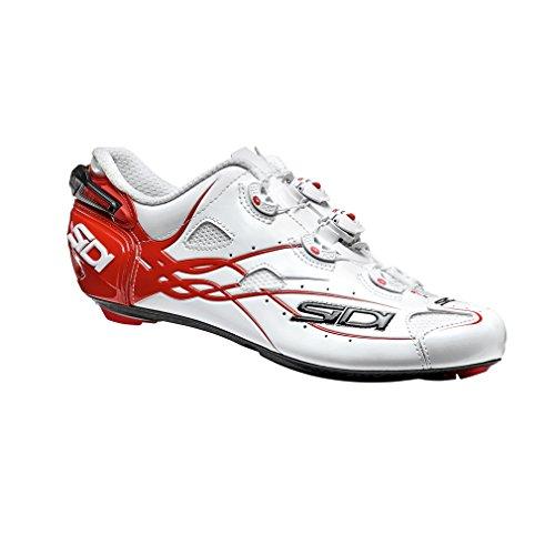 Sidi Road Shot Chaussures de Course Blanc/Rouge
