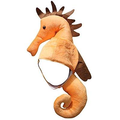 Petitebella Orange Seahorse Hat (Orange, One Size): Clothing