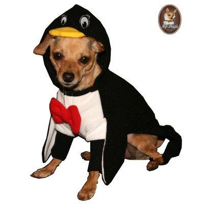 Penguin Hoodie Dog Costume Size: Medium
