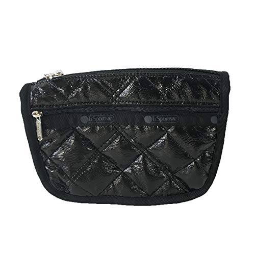 LeSportsac Travel Cosmetic Case, Black Crinkle Quilted