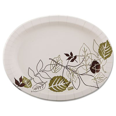 Ultra Pathways Heavyweight Oval Platters, 8 1/2 x 11, Green/Burgundy, 125/Pack, Sold as 1 Package, 125 Each per Package