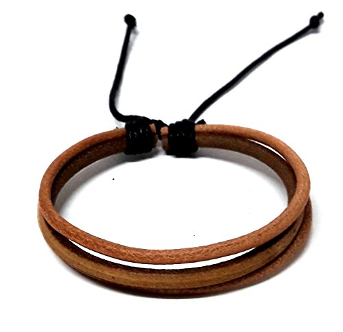 Girls Fortune Costumes Cookie (Mens Brown Braided Leather Bracelet Multi-strand Genuine Leather Wristband Wrap)