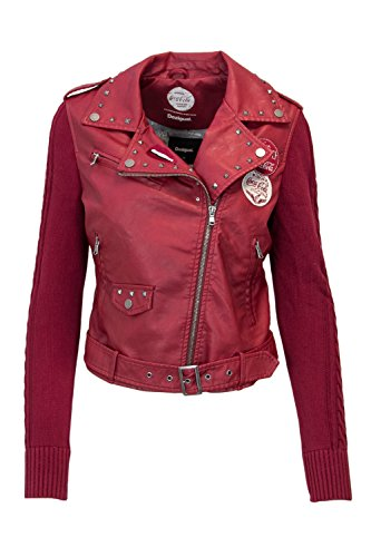 Femme Veste 18wwewat Desigual Rouge Biker Motard Pqdd8