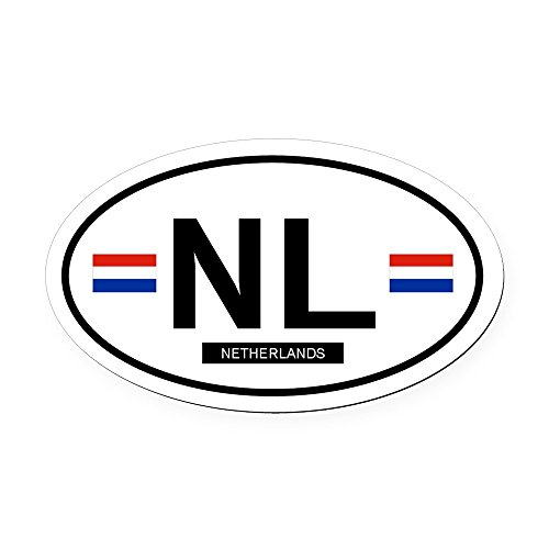 CafePress - NETHERLANDS.png Oval Car Magnet - Oval Car Magnet, Euro Oval Magnetic Bumper (Png Car Magnet)