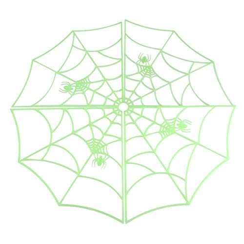 GLOGLOW Luminous Spider Web, Halloween Haunted House Supplies Tricky Toys for Bar KTV Decorative ()