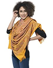 "Weavers Villa Women's 100% Pashmina Wool Indian Handicraft Woven Shawls, Scarf and Wraps [Large Size: 40"" X 80""]"