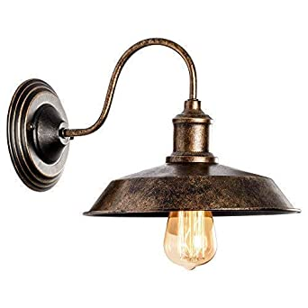 Apliques de Rustica Pared Metal Lampara Vintage Retro Lámpara Industrial de Pared E27 para la Salon