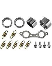 Exhaust Pipe Manifold Gasket Spring Rebuild Kit Spring Donut Seal Exhaust Gasket Set for Polaris UTV Ranger RZR 800 EFI 2008-2010 5811511 3610047 7041687 5257254