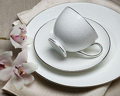 English Lace Wedgewood Fine Bone China Tea Saucer Leigh