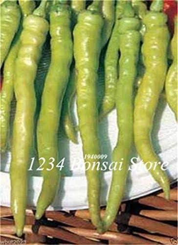 Solo i Semi Nuova 100 Pz Gigante peperone Dolce Bonsai Facile Crescere Paprika Chili S, DIY Family Garden Pot di Verdure Cile Bonsai Luce Verde