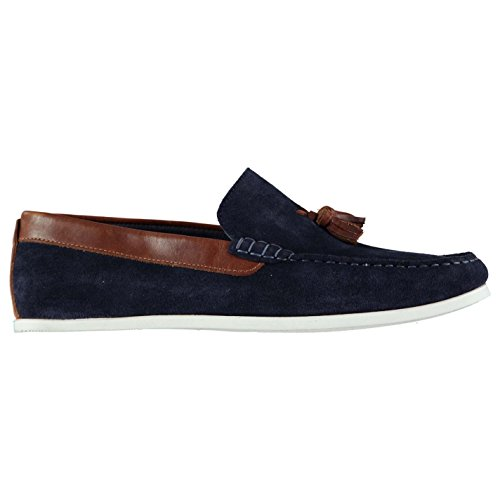 Slip Firetrap Navy On Shoes Giedo Leather Tonal Stitching Loafers Smart Mens SB1wBrt