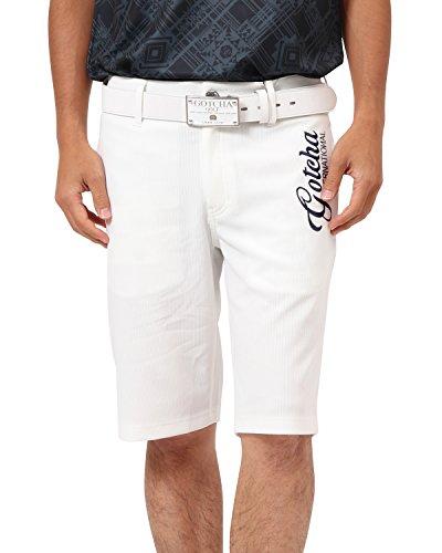 [ガッチャ ゴルフ] GOTCHA GOLF パンツ オリジナル ジャガード ショーツ 182GG1907 ホワイト Lサイズ