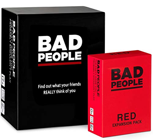 BAD PEOPLE - The Savage Party Game You Probably Shouldn't Play + The RED Expansion Pack