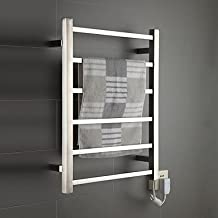 LI 60W Mirror Brushed Wall Mount Square Pipe Towel Warmmer Drying Rack , 110-120V
