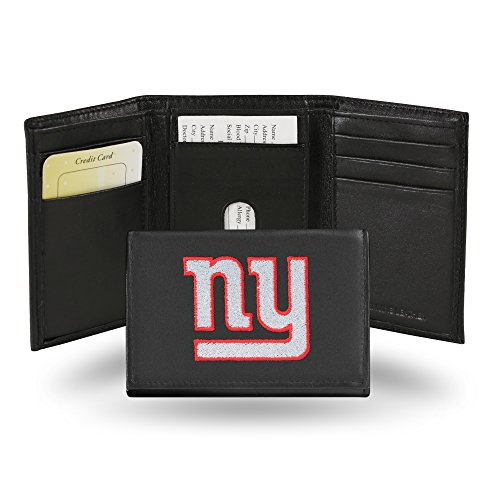 NFL New York Giants Embroidered Genuine Cowhide Leather Trifold Wallet