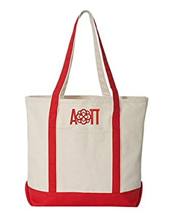 Alpha Omicron Pi Large Canvas Tote Bag
