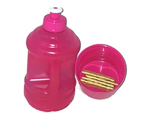 Versatility 500 Water Bottle with Twist Snack Storage Cup Holder Container (Pink)