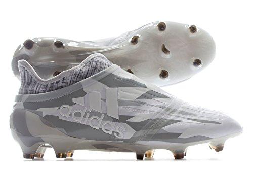 adidas X 16+ Pure Chaos FG–Botas de fútbol para hombre, hombre, blanco/gris