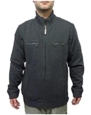 Calvin Klein Men's Lifestyle Full Zip Sweatshirt Jacket