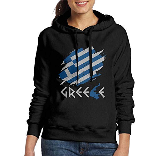 - Womens Pullover Hoodies Greece Flag Long Sleeve Fleece Hooded Sweatshirt Sweater Blouses Tops